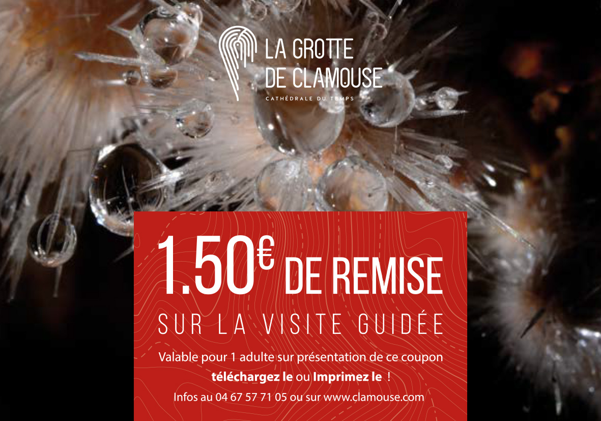 Clamouse coupon reduction visite 2018
