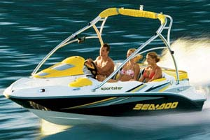Seadoo SpeedBoat 215 ch 4 Temps 4 Places